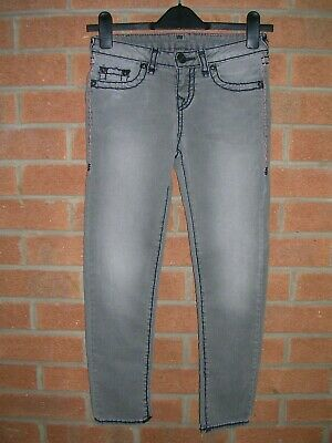 TRUE RELIGION Boys Designer Jeans Grey Trousers Age 8