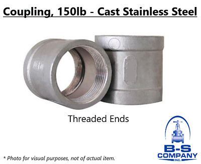 """Coupling 4"""" 150# Cast Stainless Steel 316 Threaded Pipe Fitting"""