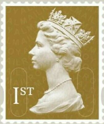 100 Gold 1st Class Stamps Unfranked Off Paper No Gum