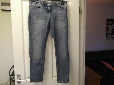 Next Blue Relaxed Skinny Jeans, Size 12P, Excellent Condition