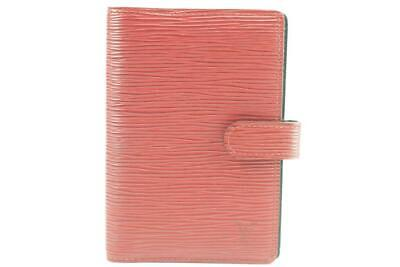 Louis Vuitton Red Epi Leather Agenda PM Small Ring Binder Cover 20LK1226
