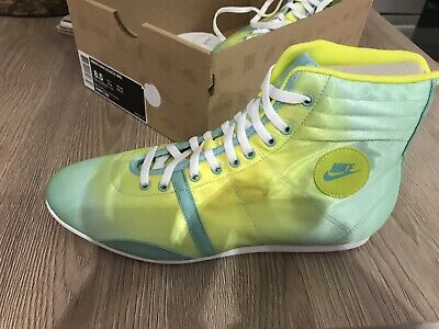 free UK delivery Nike Womens Green Mist and Yellow Hijack Mid Trainers 343873