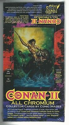 Conan Series II All Chromium Cards Factory Sealed Box of 36 Packs 7 cards a pack