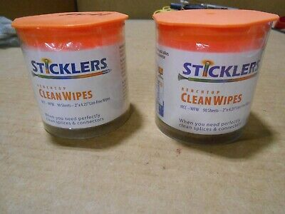 Sticklers Mcc-Wfw Benchtop Clean Wipes- 90 Sheets- 2 Pack
