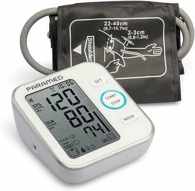 PARAMED Blood Pressure Monitor Accurate Automatic Upper Arm Bp Machine & Puls...