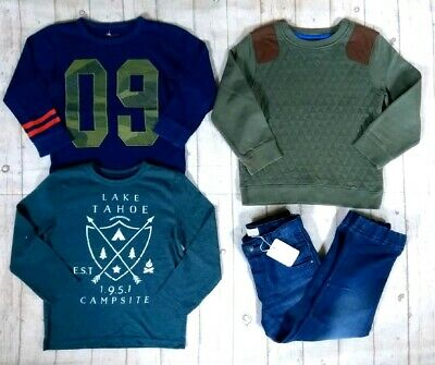 4 5 Years Bnwt Outfit Next Smart Jumper Tops Jeans Boys Trendy Clothes Bundle