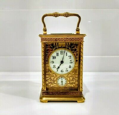 Rare 19th Century Brass Carriage Clock & Bell