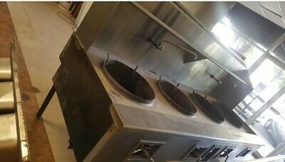 COMMERCIAL CHINESE GAS WOK RANGE w (4) Four Burners