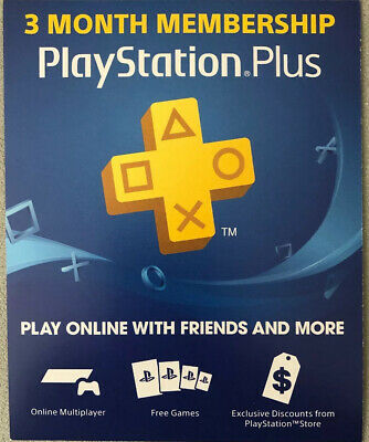 Sony PlayStation Plus 3-Month Membership Subscription Card - Digital Code 24/7