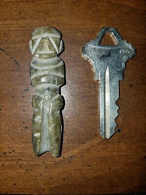 Mayan Aztec pre columbian artifact figure carved antique vintage Mezcala figure