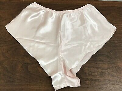 Victoria Secret Shiny Pink Flutter Tap Panty High Leg Medium Vintage Panties 90s