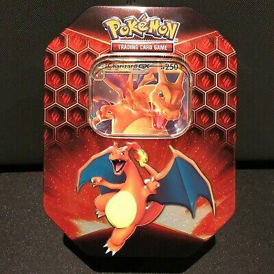 Charizard Hidden Fates Tin - Inc Promo & TCG Code Card - No Boosters