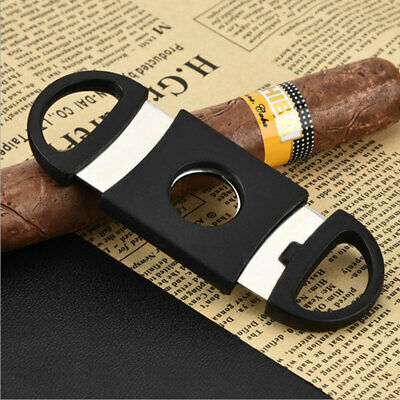 Double Blades Cutter Knife Pocket Cigar Stainless Steel Shears Scissors Clippers