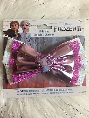 Disney Frozen II Girls Hair Bow /Elsa / Pink and White / New !