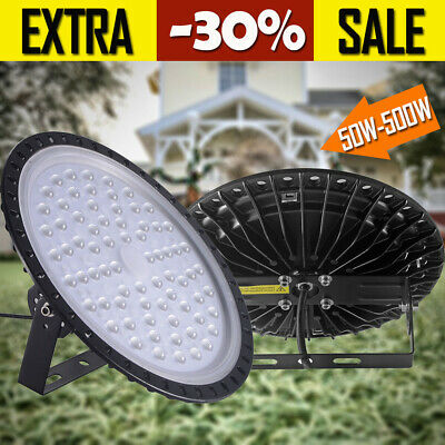 50W100W 200W500W LED UFO High Bay Light  Warehouse Industrial Factory Commercial