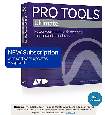 Avid Pro Tools Ultimate with 1-Year of Updates +Support Plan 1-Year SUBSCRIPTION