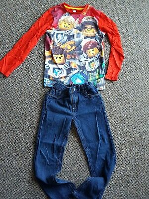 LOOK! Age 10 Years LEGO TOP With Blue Jeans In Excellent condition