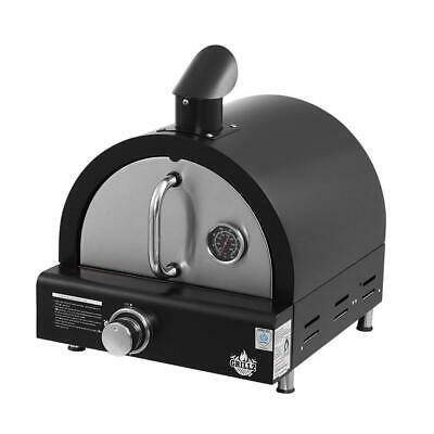 Grillz Portable Pizza Oven BBQ Camping LPG Gas Grill Cook Stove Stainless Steel,