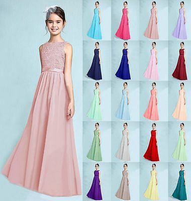 NewJunior Lace Flower Girl Prom Dress Wedding Party Bridesmaid Dress 2-16 Years