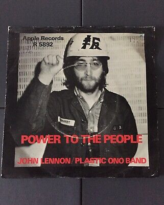 """John lennon / Plastic Ono Band - Power To The People Apple R5892 7"""""""