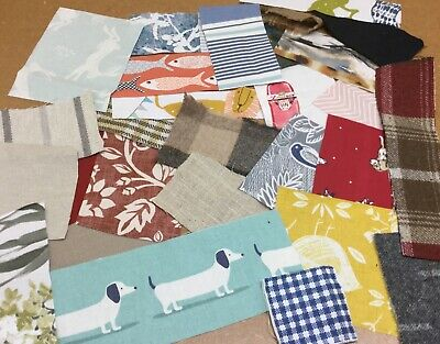 100gm Small Fabric Scraps Remnant,off cuts,Card Making,Crafts,Doll House,Buttons