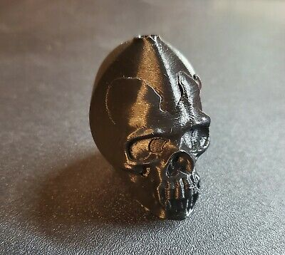 Aztec Mayan Death Whistle Skull Black PLA 3D Printed Loud Free Shipping