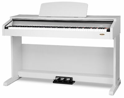 B-Ware 88 Tasten Digital E-Piano Klavier Keyboard 3-Pedale 26-Sounds Weiss Matt