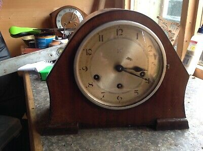 antique mantle clock westminster chimes