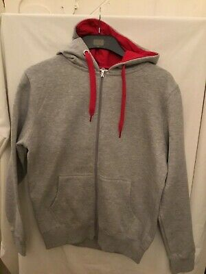 Mens Unbranded Size XXL Grey with Red Tracksuit Top and Bottoms