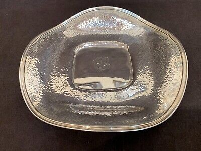 """Antique sterling silver Arts & Crafts hand hammered bowl 9.25"""" 247 grams LOVELY"""