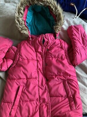 Boden Girls 3 In 1 Pink Jacket & Gilet Body Warmer 9-10 Yr Removable Arms, Hood