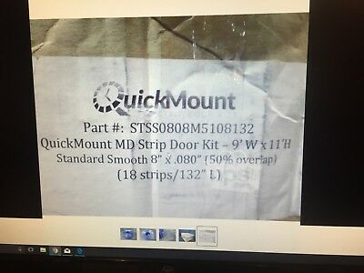 AFT STSS0808M5108132 QuickMount MD 18-Pc Strip Door Kit for 9'W x 11'H, PVC* NOS
