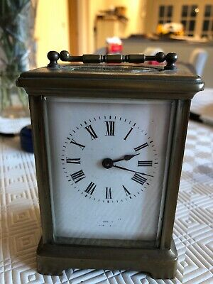 Vintage French Brass Carriage Clock - Working Order