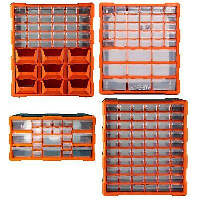 Plastic Small Tool Bit Parts Storage Drawer Organiser Cabinets Workshop