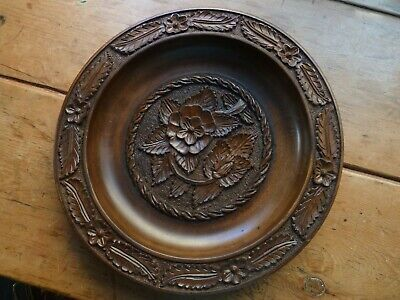 Large Vintage Carved Wooden Bowl Black Forest