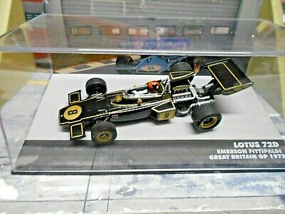 F1 LOTUS 72D 72 D Ford Cosworth GB Britain GP 1972 #8 Fittipaldi IXO Altaya 1:43
