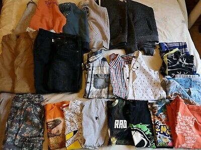 Boys Clothes Bundle Age 8-9-10 Next Fat Face George Pokémon Dinosaur 26 Items