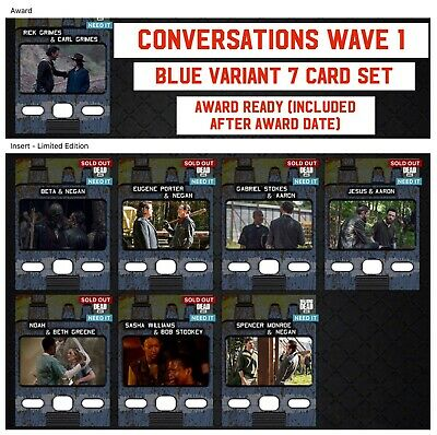 CONVERSATIONS WAVE 1 BLUE 7 CARD SET Topps WALKING DEAD DIGITAL TRADER