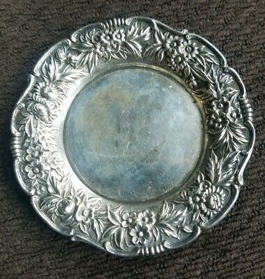 KIRK - REPOUSSE  Pattern  STERLING - 3 1/4 in BUTTER Pat 24.2 d