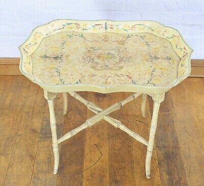 Antique style folding serving tray / coffee table / occasional table