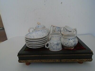 Lovely Chinese antique porcelain childs tea set & display tray  NICE ATTIC FIND