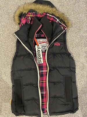 Girls Or Womans Superdry Padded Gilet Brand New With Tags Xs RRP £95