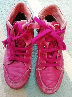Girls Pink Camper Leather Boots