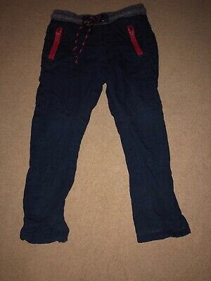 M&S Boys Trousers Navy 2-3 Years
