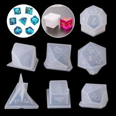 Digital Game Dice Resin Mold Silicone Mould UV Epoxy Jewelry Making Tools