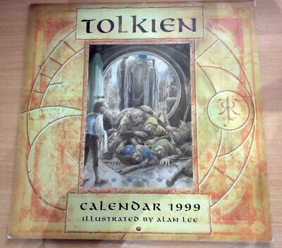 Rare TOLKIEN CALENDAR 1999 'The Lord of the Rings' Illustrations by Alan Lee