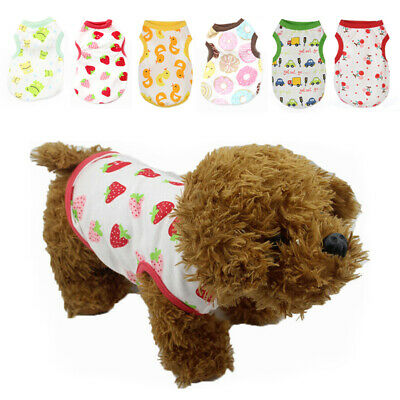 Pet Dog Puppy Vest T-Shirt Clothes Small Dog Costume summer Clothing Apparel