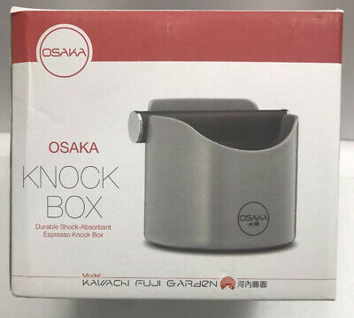 Coffee Knock Box - Barista Style Espresso Knock Box, Grey Made In Japan