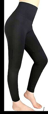 Womens Fleece Lined Leggings Thick Winter Warm Solid One Size Brushed Thermal