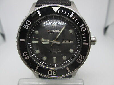 Vintage Citizen 150M Daydate Stainless Steel Automatic Mens Diver Watch